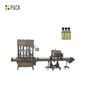 ອັດຕະໂນມັດ 2 nozzle gel nail polish filling machine bottle filling capping machine