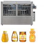 ເຄື່ອງອັດຕະໂນມັດ Servo Piston Type Sauce Honey Jam High Viscosity Liquid Filling Capping Labeling Machine Line